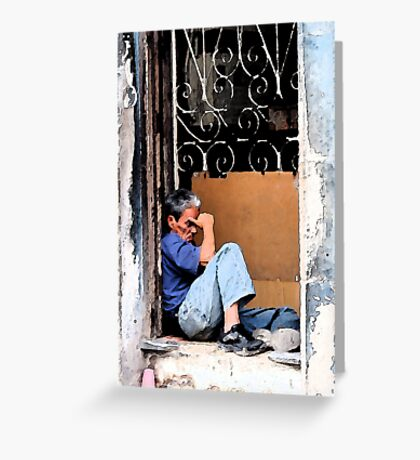 Down & out in Havana, Cuba Greeting Card