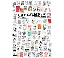 City Gardens Punk Card Print version 1.0 Photographic Print