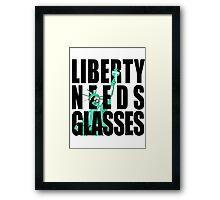 Liberty Needs Glasses Framed Print