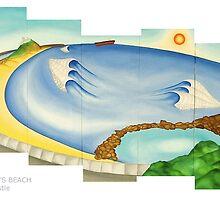Nobby's Beach by Keith Nesbitt