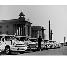 new delhi. old cars. india Photographic Print