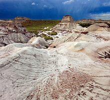 Storm over the hoodoos, Alberta, Canada by earthscapia