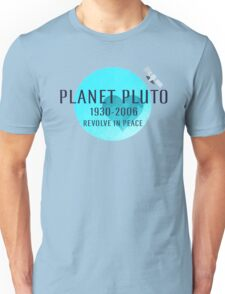 Revolve in peace pluto Unisex T-Shirt