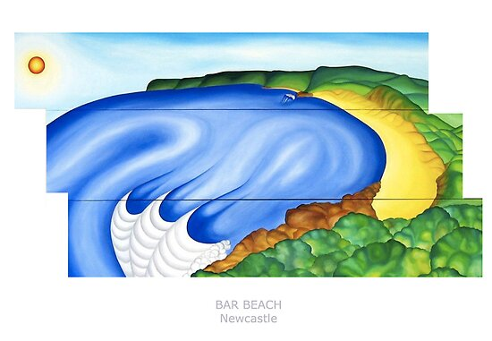 Bar Beach by Keith Nesbitt