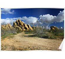 Boulders At Apple Valley Poster