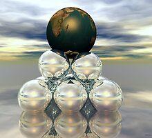 Earth Pedastal by Sandra Bauser Digital Art