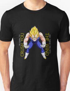 dragon ball z majin vegeta i'm going to crush you and throw you into the wind anime manga shirt T-Shirt