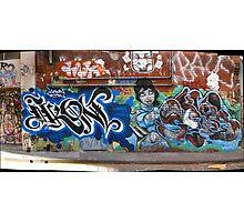 melbourne graffiti 1004pano - Ikon Photographic Print