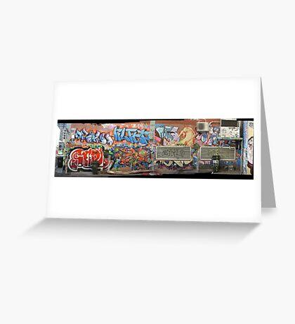 melbourne graffiti 1005pano Greeting Card