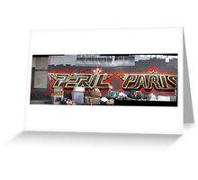 melbourne graffiti 1006pano - Peril Paris Greeting Card
