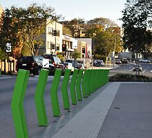 Green Boomerang Posts by Rees Pearse