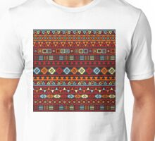 Aztec Influence Ptn IV Orange Red Blue Black Yellow Unisex T-Shirt