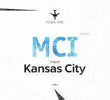 Kansas City, MCI, Airport code by Pranatheory