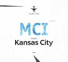 Kansas City, MCI, Airport code by Pranatheory