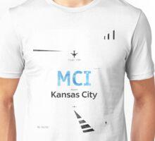 Kansas City, MCI, Airport code Unisex T-Shirt