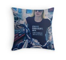 Coffee Chocolate Men Throw Pillow
