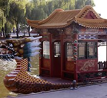 Dragon Boat Docked by phil decocco