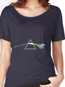 My Little Pony - Rainbow Dash / Dark Side of the moon Women's Relaxed Fit T-Shirt