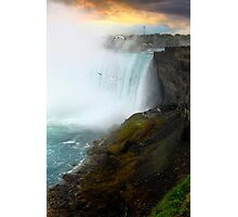 Sunset on Niagara Falls Photographic Print