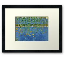 Irrigation Reflection...When Your World Is Upside Down Framed Print