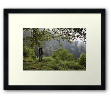Contemplating the forest Framed Print