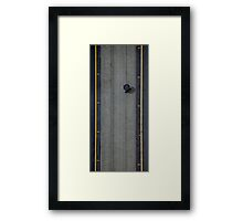 Rain on collins st. Framed Print