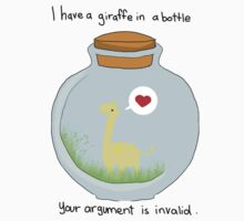 Giraffe in a bottle by SarahsTees