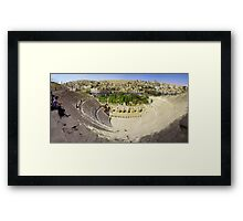 Amman Roman Theater Framed Print