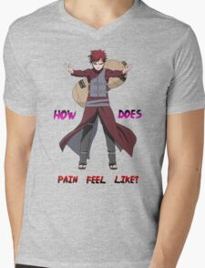 Gaara - How does Pain feel like t shirt, iphone case & more Mens V-Neck T-Shirt