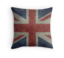 Union Jack Desaturated Grunge (3:5 Version) Throw Pillow