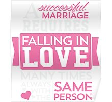 Falling In Love T-shirt Poster