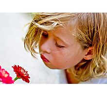 Let's smell the flowers....... Photographic Print