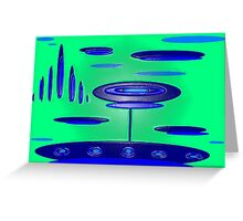 Super Saucer Greeting Card