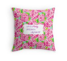 Lilly Inspired Party Quote First Impression Throw Pillow