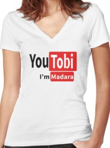 Tobi-Madara t shirt, iphone case & more Women's Fitted V-Neck T-Shirt