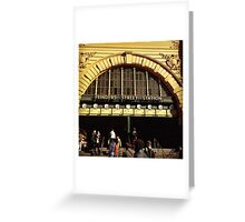 Flinders Street railway station Greeting Card