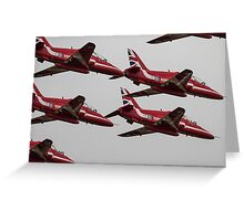 The Red Arrows Synchro Pair Greeting Card