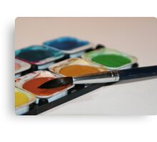 Brush and Paintbox Canvas Print