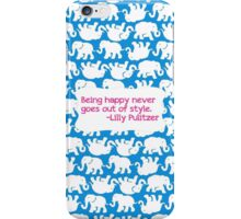 Lilly Inspired Happy Quote Tusk in Sun Blue iPhone Case/Skin