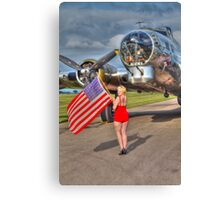 Yankee Girl Canvas Print