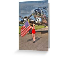 Yankee Girl Greeting Card