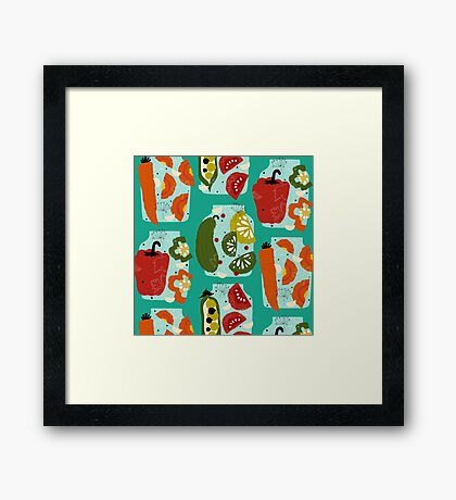 What about pickles? Framed Print