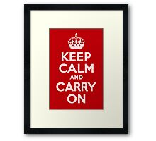 Keep Calm & Carry On - Red Framed Print