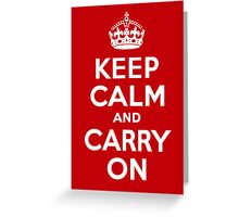 Keep Calm & Carry On - Red Greeting Card