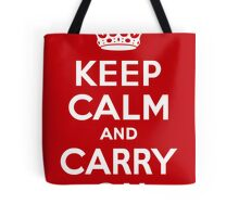 Keep Calm & Carry On - Red Tote Bag