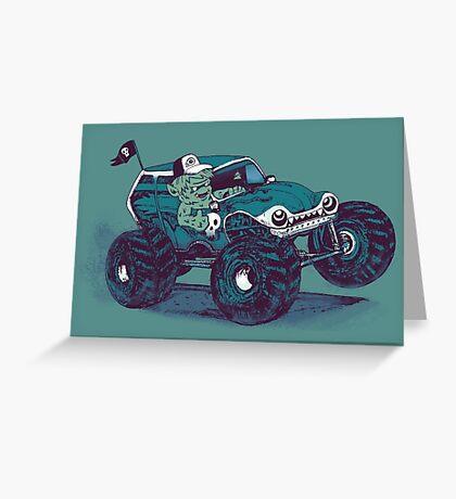 Monster Truckin' Greeting Card