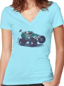 Monster Truckin' Women's Fitted V-Neck T-Shirt