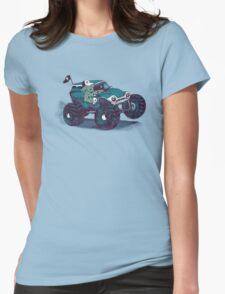 Monster Truckin' Womens Fitted T-Shirt