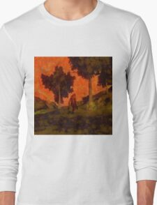Bigfoot Wandering by Sarah Kirk Long Sleeve T-Shirt