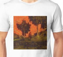 Bigfoot Wandering by Sarah Kirk Unisex T-Shirt